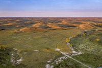 Nebraska Sandhills in sunrise light