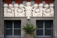 Moderne Reliefs Heilig-Geist-Kirche Frankfurt