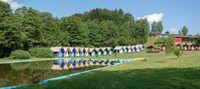 children's chalets camp in summer