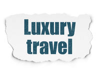 Vacation concept: Luxury Travel on Torn Paper background