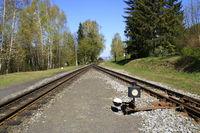 Einfahrt und Ausfahrt im Bahnhof Jonsdorf bei Zittau
