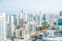 Cityscape aerial,  skyline of downtown Panama City