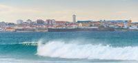 Panorama Peniche ocean town Portugal