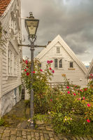Old Town Wooden Houses Stavanger Norway