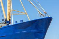 Bow shrimp fishing ship in Dutch harbor Lauwersoog