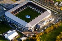 Benterler Arena des SC Paderborn. 2. Fußballbundesliga. Stadion