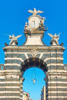 Garibaldi gate in Catania