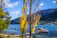 Boat on Lake Wakatipu, New Zealand