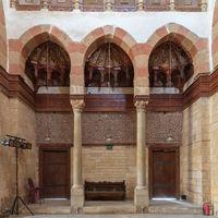 Beshtak Palace, an ancient historic palace built in the Mamluk era, located in Muizz Street, Gamalia district, Cairo, Egypt