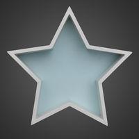 white wooden Christmas star shape frame