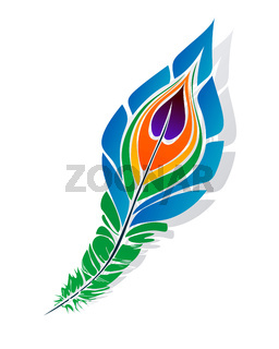 Stylized peacock feather