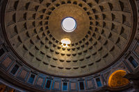 Dome of the Pantheon in Rome, Italy