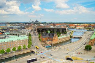 Skyline Copenhagen Old Town. Denmark