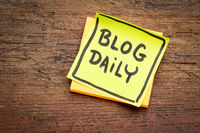 blog daily reminder note