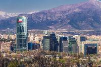 Die Skyline von Santiago de Chile