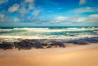The Indian ocean landscape. Beautiful view of a sea