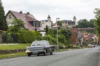 Opel Rekord A Cabrio  bei der 24. ADAC Oldtimerfahrt am 2.6.2018 in Ranis, Thüringen