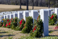 National Cemetery During The Holiday Season