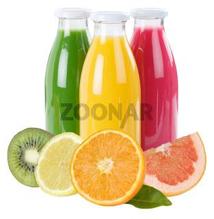 Saft Smoothie Smoothies Früchte Flasche Fruchtsaft Quadrat freigestellt Freisteller