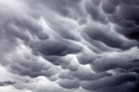 Mammatus clouds sky background