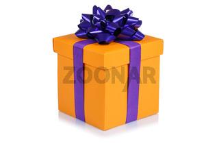 Geschenk Geburtstag Weihnachten Weihnachtsgeschenk Geburtstagsgeschenk Schachtel orange schenken