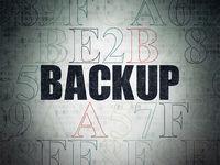Software concept: Backup on Digital Data Paper background