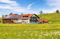 A traditional Bavarian spring landscape