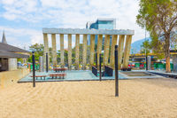 Fountain of the barefoot park Medellin Colombia