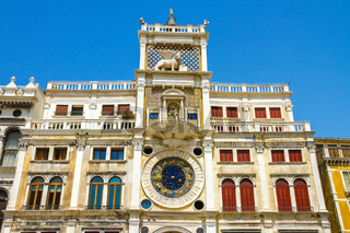 View on the St Marks Clocktower in Venice