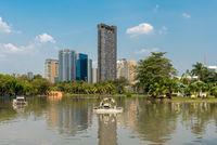 Skyscraper at the Chatuchak Park in Bangkok
