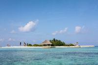 tropical island scenery,maldives