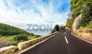Coastal Road at the South Coast of Mallorca Spain