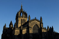 St Giles Cathedral with a blue sky background