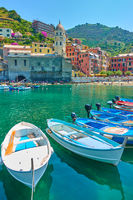 Vernazza town in Italy