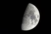Moon First Quarter detailed closeup