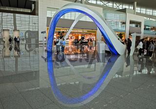 Informationsstand im Terminal 2, Flughafen Seoul Incheon International Airport, Seoul, Südkorea