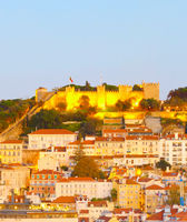 Lisbon panorama, Old Town Castle