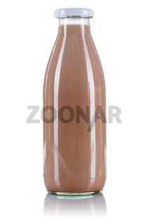 Kakao Flasche Schoko Schokoladen Milch freigestellt Freisteller isoliert