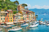 Portofino town on the Italian riviera in Liguria