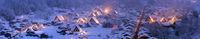 Winter Landscape of Shirakawago Panoramic