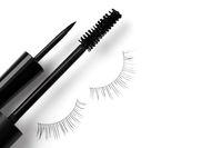 Black eyeliner mascara and eyelashes
