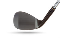 Face of Black Golf Club Wedge Iron On White