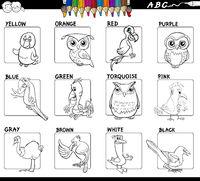 educational basic colors set coloring book worksheet