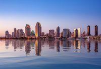 San Diego Skyline at sunset from Coronado