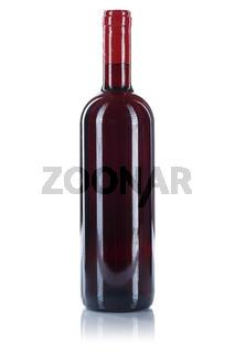 Wein Flasche Weinflasche Rotwein freigestellt