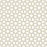 Seamless arabic geometric ornament in brown color.Arabic style.