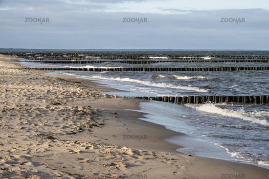 Ostsee auf Usedom im Winter, Deutschland