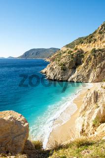 Clifftop View Nobody Sand Beach Kaputas Turkey