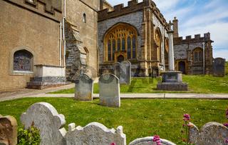 The churchyard of St Michael the Archangel Church. Lyme Regis. West Dorset. England