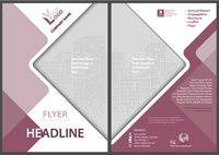 Template of a Flyer with a Geometrical Diamonds